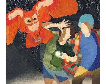 Noctua - Giclee Art Print - 14x14