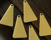 Brass Triangle Charm, 50 Raw Brass Triangle Charms with 1 Hole (20x1mm) Brs 3042-1 A0097