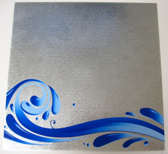 The Wave..Steel Memo Magnet Dry Erase Board // housewarming hostess gift // office organization // office decor // home decor