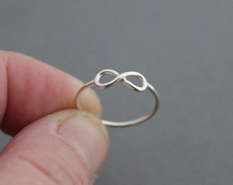 Petite Sterling Infinity Ring / Custom made for you / Stacking Ring / sterling silver ring