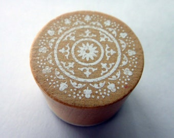 Cute Lace Doily Pattern Rubber Stamp - Design 3