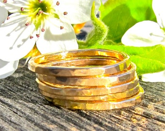 Five 14K Gold Filled Rings