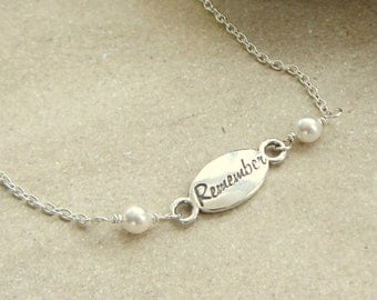 Remember Bracelet for Miscarriage or Loss, in Sterling Silver, Beloved Memories