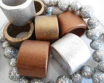 12 metallic napkin rings entertaining dinner party family event Christmas New Years eve