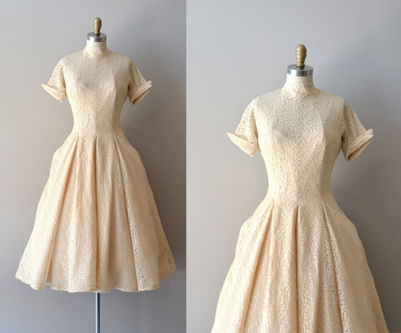 r e s e r v e d...lace 50s wedding dress / 1950s dress / DeLovely Lace dress