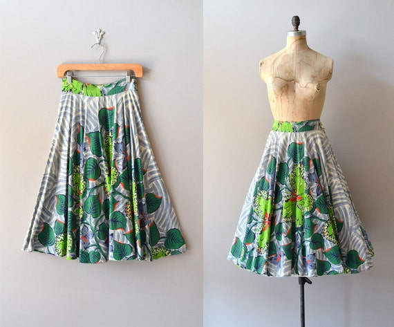 vintage 50s skirt / 1950s skirt / circle skirt / Archipelago skirt