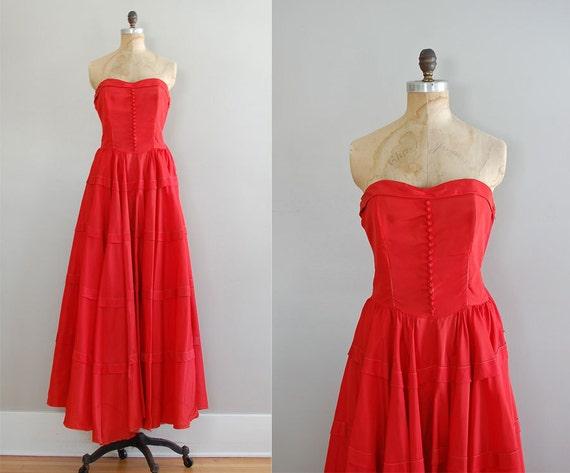 Emma Domb 40s dress / 1940s dress / Party Line dress