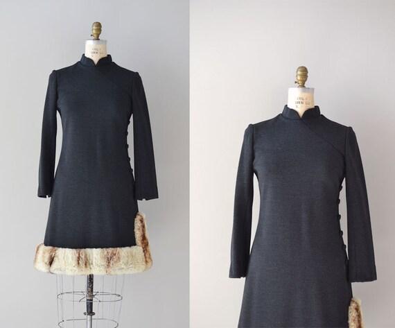 1960s dress / fur 60s dress / Chin Chin Chinchilla