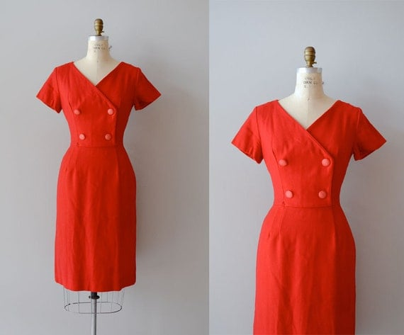 r e s e r v e d...1960s dress / red wool 60s dress / Joanie dress