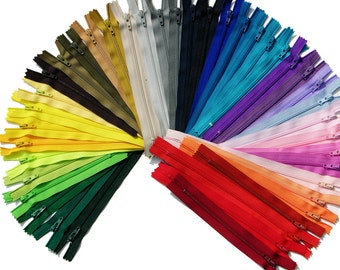 "5"",6""7""&8""100 Assorted colors 500 available colors in stock -Most on Etsy-WHOLESALE YKK Closed Bottom- great for craft projects-"