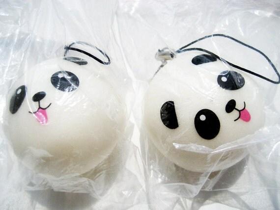 squishy panda boy supply phone strap  kawaii  squishies