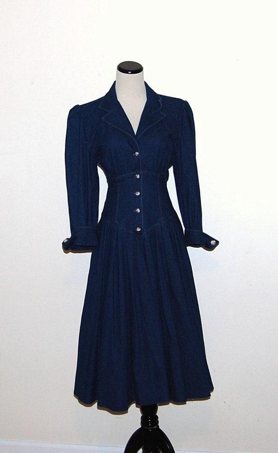 Vintage Dress Denim Fashion