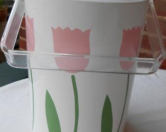 Tulip Ice Bucket / Preppy Ice Bucket / Pink Ice Bucket / Vintage Ice Bucket