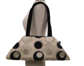 Sale - The Luxe - Circles - Creme and Black - Made to Order