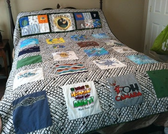 Create your Own Custom Patchwork Tshirt Style Quilt