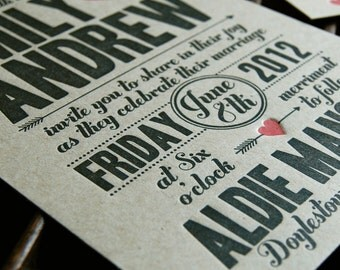 Cupid -  Letterpress Wedding Invitation Sample