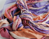 Silk Ribbons Set in Ice Cream Sorbet Color Palette Hand Painted All Three Styles of Silk Twenty Silks Total