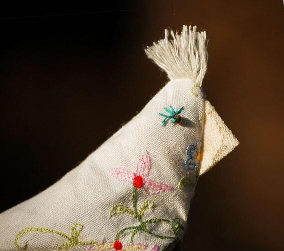 Lafayette - Lavender Sachet - lovingly known as Pigeon Scraps - Primitive Folk Art .. sweet aromatherapy for home office or school locker