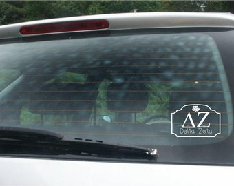 Delta Zeta Car Decal vinyl lettering