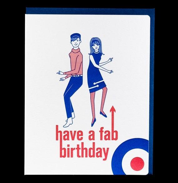 Items similar to Mod Fabulous / 036 / birthday on Etsy