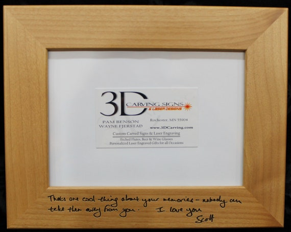Custom Writing Picture Frames : Personalized Decor