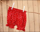 Baby Girl Bloomers Red Polka Dot