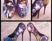 Custom Hand Painted Heels - Ultimate Fan Must Haves - Star Wars or any other theme - SHOES NOT INCLUDED