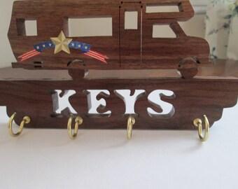 Camper wall hanger for keys