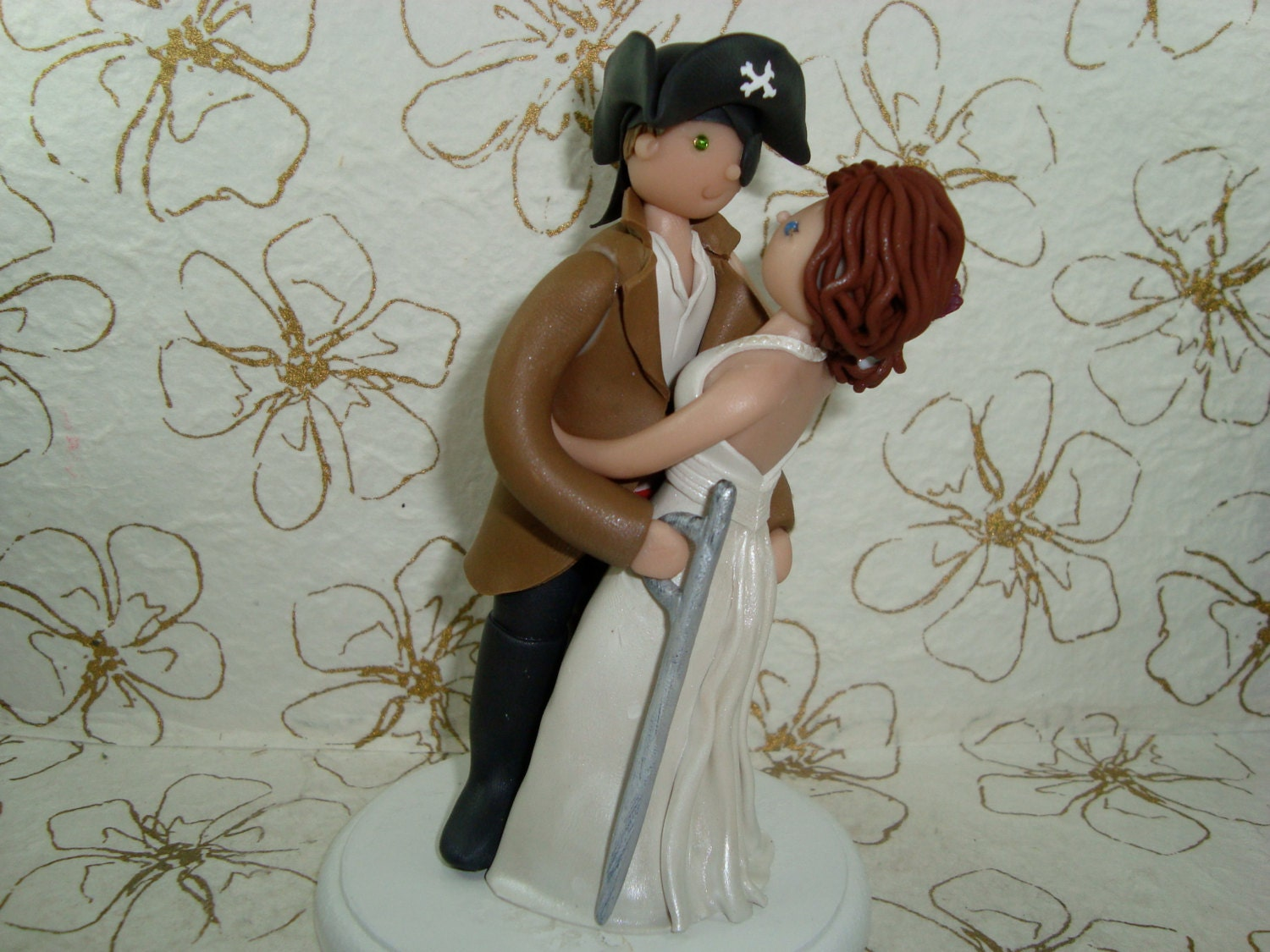 pirate wedding cake topper customized pirate wedding cake topper by mudcards on etsy 18622