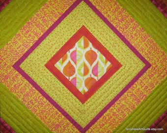 Modern Quilt - Asymmetrical On-Point Squares