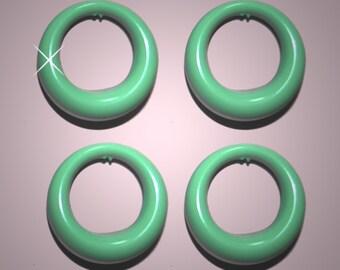 Vintage 4 Pale Green 27mm Hoops GL2