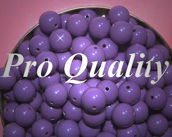 Vintage 36 Lavender Lucite 10mm Beads FL8