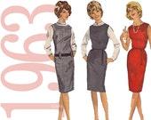 60s Shift Dress Vintage Pattern - B31 - Simplicity 5060 - Easy Shift Dress Sewing Pattern