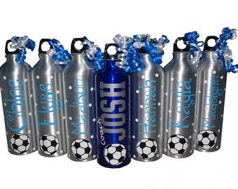 Personalized Aluminum Water Bottle - 25 fl.oz. - Soccer
