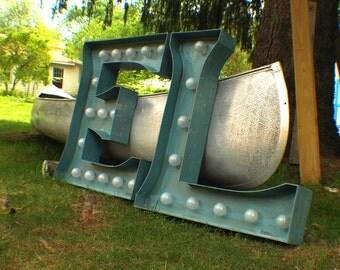 Marquee letter Large Huge Vintage  bulb channel 3ft X  2.5 - 3ft indoor price per letter