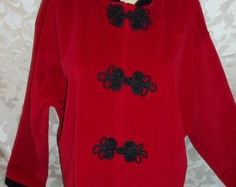 Vintage  Neiman Marcus Red Velvet Jacket Shirt