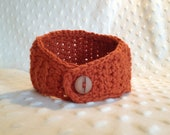 SALE - Ladies Headband (Ear Warmer) in Burnt Orange - 100% Wool