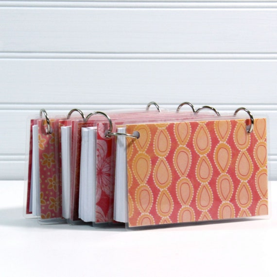 3 X 5 Index Card Or Note Card Binder Set Of Four Peachy Rosy
