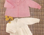 PDF Vintage Knitted Babys Patterned Matinee Coats Knitting Pattern (X95)