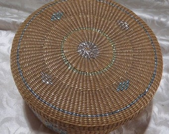 Beautiful Asian Sewing Basket