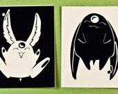 Mokona Black and White Stickers