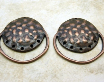 32x29x1mm Antique Copper Base Metal Earring Components or Pendants (G202)