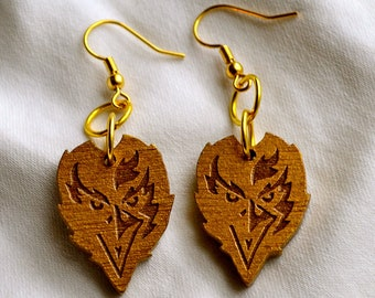 Baltimore Ravens Engraved Earrings