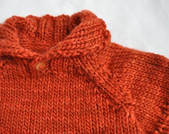 Knitting Pattern for Doll Sweater - Pierre's Pullover
