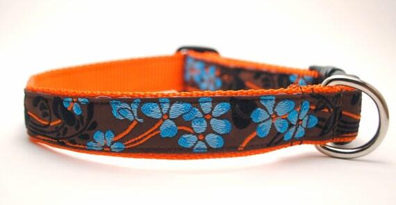 Garden Party in Blue - Custom Dog Collar