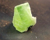 August birthstone - Peridot Crystal - Terminated wedge - wire wrap stone - small - natural - raw - rough - specimen - Peridot - green
