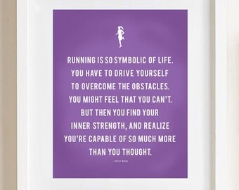 Running Strong Print - 8x10, custom color