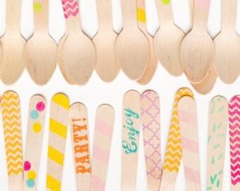 Variety Pack - 20 Wooden Ice Cream Spoons -Bestseller