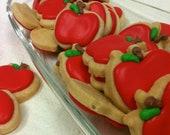 Mini APPLE SUGAR COOKIES, Itty Bitty Sugar Cookies, 1/2 Pound