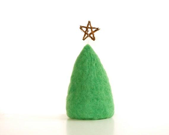Felt Christmas Tree, Needle Felted Mini Wool Christmas Tree, All ...